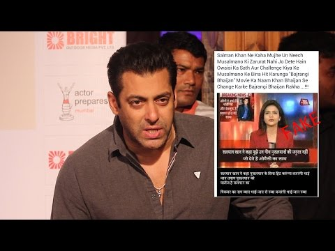 Salman khan Talk about Fake Religious Post | Filed a complaint | Strict Action to be Taken