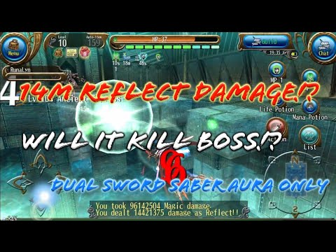 Reflecting 14M Damage Boss with Dual Sword Saber Aura! Will it Kill Boss!? Bug!? - Toram Online