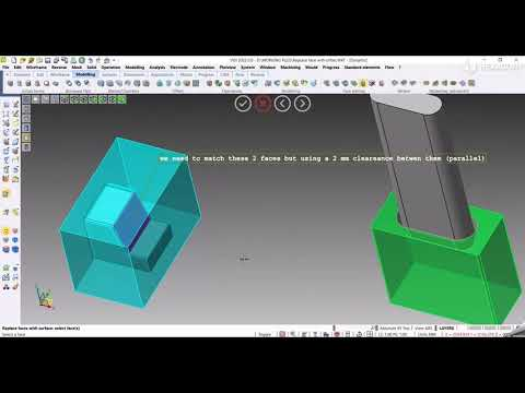 CAD - Replace face with surface | VISI 2022.0