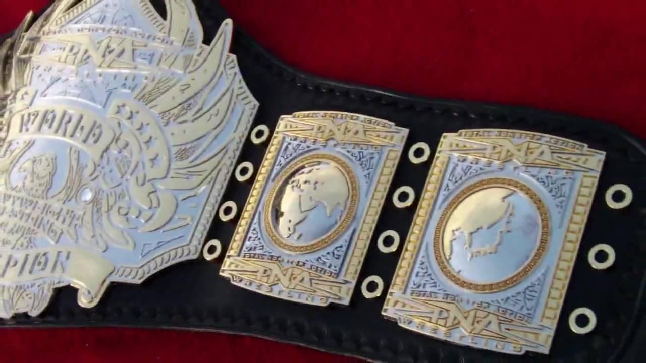 Re Leathered Tna Wrestling Championship Belt Custom