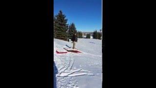 Eddie the Eagle Ski Jump Fail