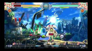 Blazblue: Central Fiction- Platinum The Trinity Mid-screen Combos