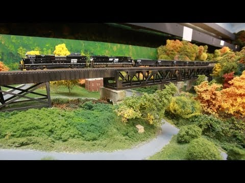 LAYOUT TOUR - N scale - Norfolk Southern - Pocahontas Division - Modern Day Layout