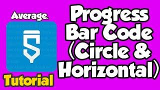 كيفية جعل ProgressBar (دائرة الأفقي) | Sketchware التعليمي