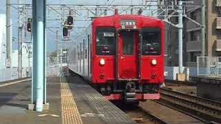 筑肥線西唐津行き普通列車(103系1500番台)・唐津駅に到着
