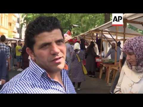 Syrian refugees celebrate Eid in German shelter