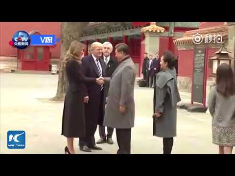 Xi Jinping welcomes Donald Trump in China