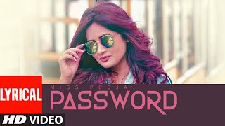 Password Miss Pooja Full Lyrical Song Prince Singh AKS Jaggi Jagowal Latest Punjab Song 2019