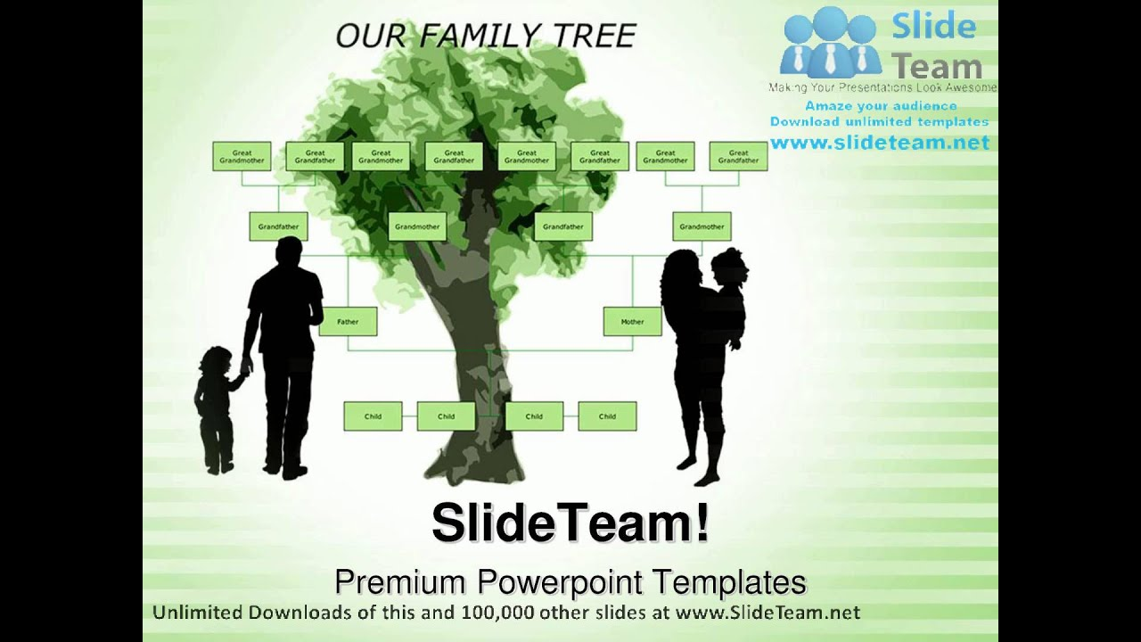 Family Tree Metaphor PowerPoint Templates Themes And