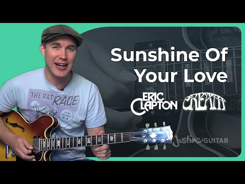 How to play Sunshine Of Your Love  Cream, Eric Clapton Guitar Lesson SB306