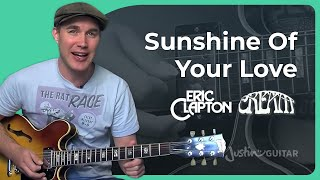 How to play Sunshine Of Your Love by Cream, Eric Clapton (Guitar Lesson SB-306)