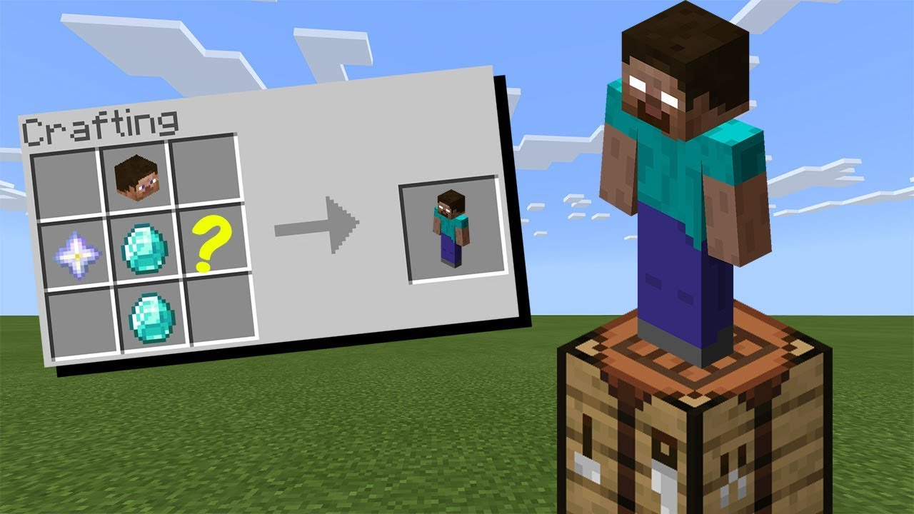 How To Craft Herobrine In Minecraft Youtube