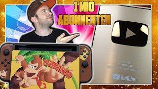 Danke für 1 Million Abonnenten | Donkey Kong Custom Switch & YouTube Gold Play Button Unboxing in 4K