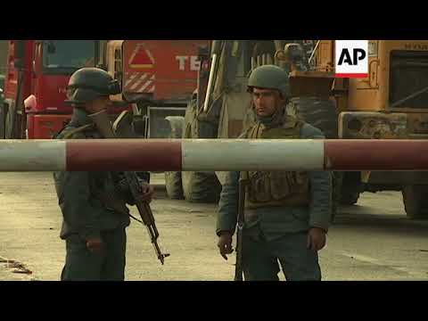 Damaged cars removed from scene of Kabul suicide bombing