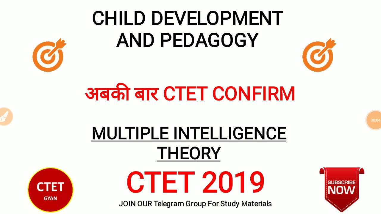 CTET CDP NOTES: MULTIPLE INTELLIGENCE THEORY
