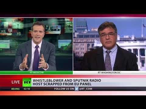 Russia Scare: Whistleblower & Sputnik radio host scrapped from EU panel