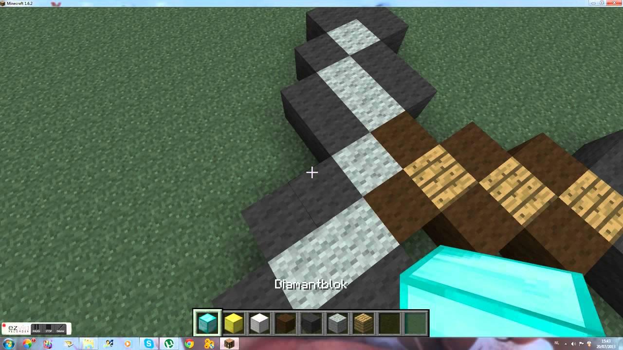 hoe maak je een zwaard minecraft