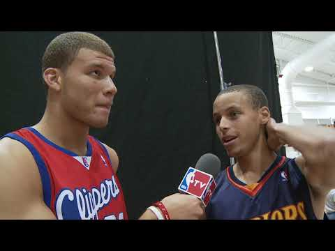 Blake Griffin Interviews Stephen Curry and James Harden at 2009 Rookie Photo Shoot (VIDEO)