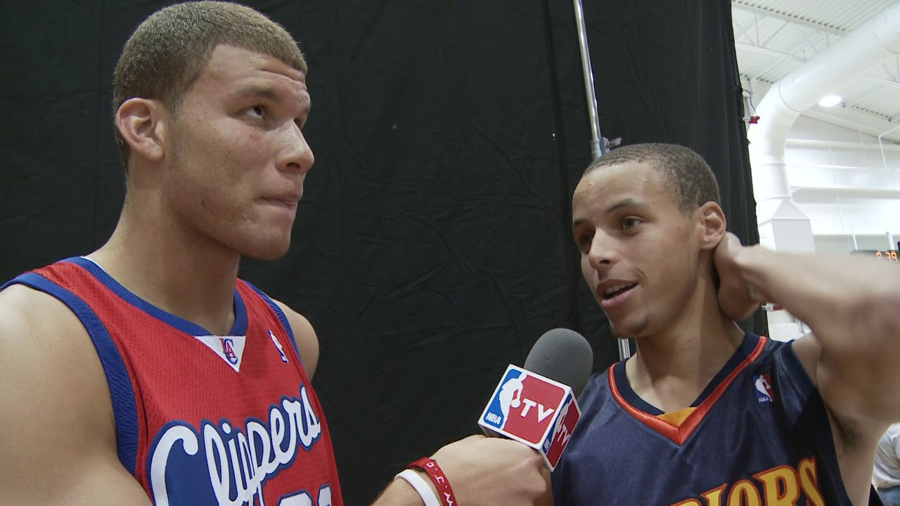 Blake griffin interviews stephen curry and james harden at 2009 blake griffin interviews stephen curry and james harden at 2009 rookie photo shoot m4hsunfo