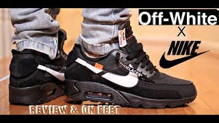 "Gambar cover (BUY NOW B4 📈📈) NIKE X OFF WHITE ""AIR MAX 90"" REVIEW & ON FEET"
