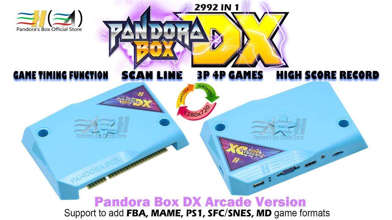 2020 New Pandora Box DX 3000 in 1 arcade jamma board HDMI VGA CGA CRT scan  line support 3P 4P game
