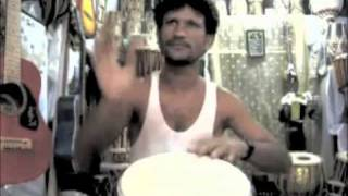 djembe lesson with Hamid