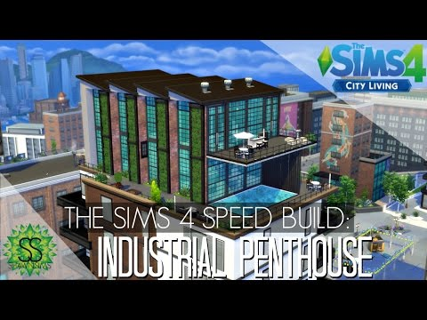 The Sims 4 City Living - Speed Build - Industrial Penthouse