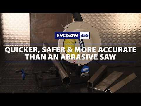 """Evolution Evosaw355 14"""" Chop Saw: Stainless Steel Premium Blade"""