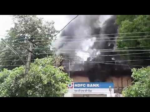 Fire at hdfc bank vaishali nagar jaipur