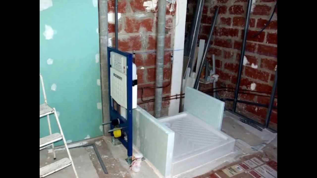Construction dune salle de bains  YouTube