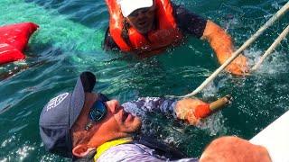 Unbelievable Fishing Secret ++ A Canoe Will Flip Fighting Big Fish ##🤣