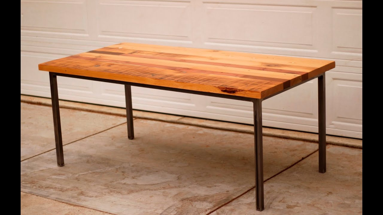Metal And Wood Kitchen Table Metal Table Legs Youtube