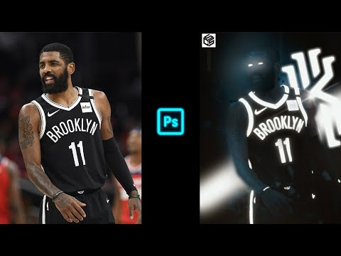 Sports Design Full Tutorial | Make Your Edits Glow! | Kyrie Irving Glow Photoshop | Cal So Scoped