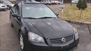Comprehensive video walkaround and test drive of a 2005 nissan altima se sedan black for sale