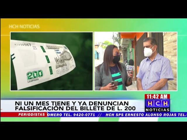 Registran primera denuncia por falsificación del billete de 200 lempiras en Honduras