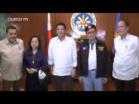 Former presidents and President Rodrigo Duterte meet at National Security Council