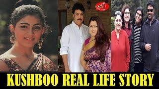 Real Life Controversies of Kushboo & her life | Prabhu | Kushboo Family Unseen Photos | Gossip Adda