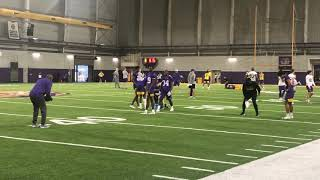 LSU CB 1 on 1 coverage drill practice 1 Mississippi State game week