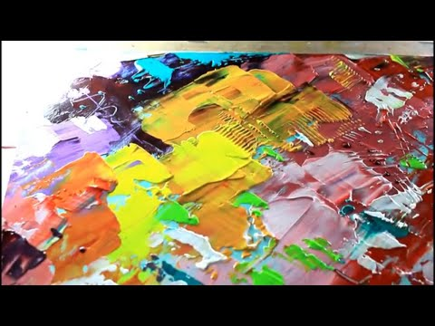How To Draw Abstract Painting With palette knife/Abstract Painting With Acrylic Color//Demonstration