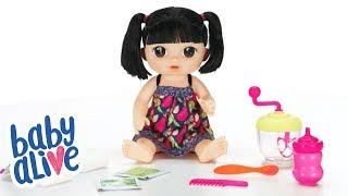 Hasbro Brasil - Vídeo 360° Baby Alive Alive Papinha Divertida Asiática - E0633