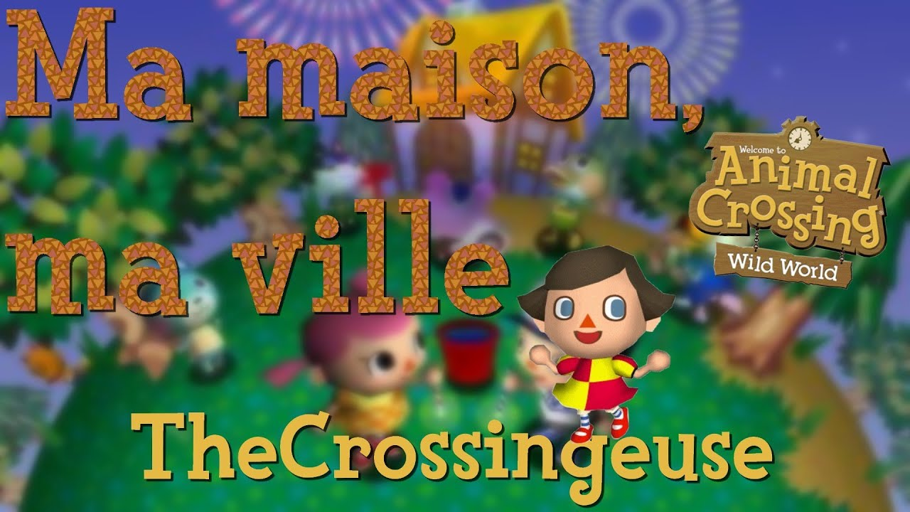 Animal crossing wild world ma maison ma ville youtube for Agrandissement maison animal crossing wii