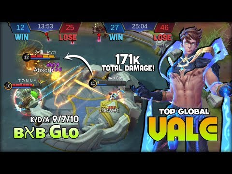 Surrender?! In Your Dream! Carry with Vale? Kill or Win! ʙאʙ Gιo Top Global Vale ~ Mobile Legends