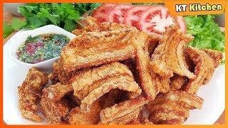 Crispy Pork Belly - Cách Làm Thịt Heo Chiên Giòn Rụm - Ăn Vặt Ngon Lạ- Best Recipe - ENGLISH CAPTION