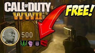 How to get Free Perks on Round 1 Easter Egg COD WW2 Zombies NOT CLICKBAIT