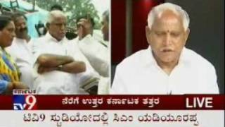 cm bs yeddyurappa in tv9 part 6