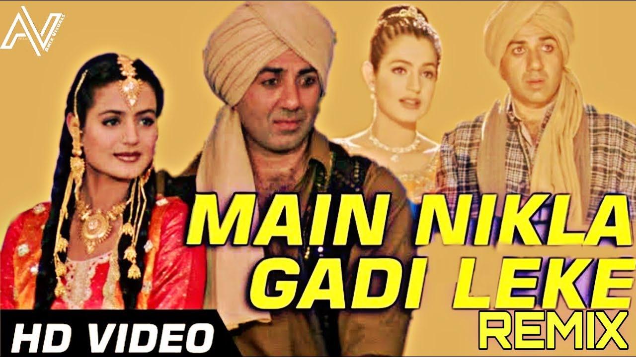 Main Nikla Gaddi Leke (Remix)  Dj Suman S X Dj Born  Gadar  Udit Narayan  Amix Visuals
