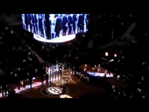 Debbie Deane: First Ever Brooklyn Nets Home Game National anthem