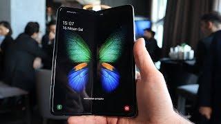Samsung Galaxy Fold ön inceleme - Katlanabilir telefon elimizde!