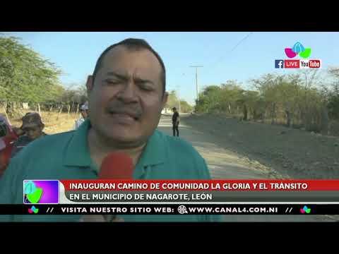 Inauguran Camino De Comunidad La Gloria Y El Tránsito En Nagarote