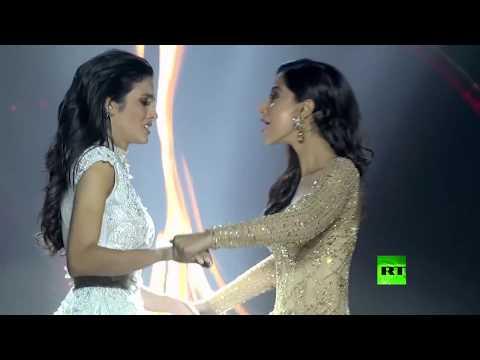 شاهد: ملكة جمال تتعرض للأغماء أثناء إعلان فوزها في المسابقة